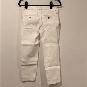 Banana Republic Avalon Crop White Pant